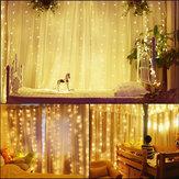 3Mx3M EU Plug AC220V 5 W Casamento Drape Stage LED Corda Cortina de Luz Em Casa Decoração de Natal Do Partido