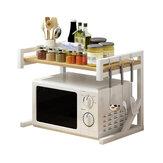 2 Katlı Mikrodalga Fırın Rafı Fırın Standı Mutfak Depolama Rafı Masaüstü Baharat Tatlandırıcı Düzenleyici