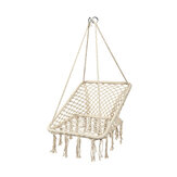 Outdoor & Indoor Hammock Chair Hanging Cotton Rope Macrame Swing Seat Rope Balcony Garden Hanging Chair