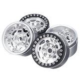 Cerchi in alluminio Beadlock da 4 pollici da 1,9 pollici per parti di automobili 1/10 RC Crawler TRX4 # 45