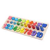 Conteggio educativo Geometria Giocattoli in legno 3 in 1 Tavola Apprendimento della matematica Preschool Montessori Early Educational Puzzle Toys