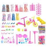 88 PCS Material de PP aleatorio Ropa de muñeca y otros accesorios Juego de juguetes Muñeca de 11 pulgadas compatible