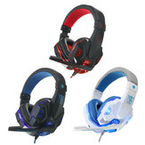 USB 3.5mm LED Surround Stéréo Gaming Casque Headbrand Casque Avec Micro
