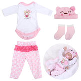 Pink Doll Clothes Set voor 22inch Reborn Baby Doll