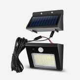 64/48/32LED Solar 3 Modes LED Split Waterproof Solar Lamp Human Body Sensor Yard With 7.5m Cable