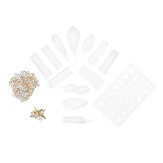 118PCS DIY Crystal Glue Resin Silicone Jewelry Molds Project Gift Pendant Decoration Mould Tools Set