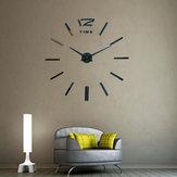 Безрамныйбольшойсовременный3DDIYБольшая стена Часы Зеркальные наклейки Домашнее оформление офиса