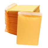 50Pcs Mailers de bolha de papel Kraft Envelopes acolchoados Self Seal Shipping Bags Lot Yellow