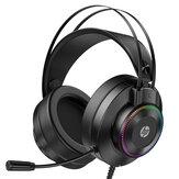 HP GH10 / GH10GS Gaming Headset 50 mm-es egység 360 ° -os sztereó effektusú LED Colorful könnyű, rugalmas mikrofon a PS3/4 számítógéphez