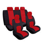 Full Set Black&Red Universal Car Seat Covers Protector Washable Breathable
