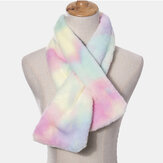 Écharpe unisexe Plush Plus Épaissir Tie-dye Warm Casual All-match Protection du cou