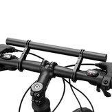 BIKIGHT 30 cm bicicleta guiador extensor liga de alumínio bicicleta farol suporte porta lanterna para ciclismo ao ar livre
