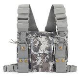 Porte-harnais de poche pour radio, talkie-walkie, sac à dos, étui pour sac à dos, camouflage
