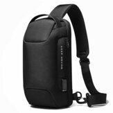 BANGE BG-22085 Oxford Cloth Sling Chest Bag USB External Charging Port Waterproof Crossbody Bag Breathable Anti-theft Zipper Shoulder Bag for Camping Travel