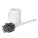 Bristles Soft Silicone Toilet Brush Hollow Drain Base Bathroom Cleaning Tool