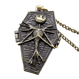 DEFFRUN Nightmare Before Christmas Quartz Pocket Watch Retro Antique Pingente Necklace Children Gift