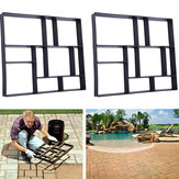 Rectangle Walk Maker Stepping Stone Reusable Paver Molds Brick Mould Cement Brick Mold DIY Garden Walkway Pavement