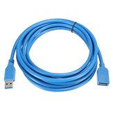 3M / 10ft High Speed USB 3.0-Stecker auf USB 3.0-Buchse, flaches Verlängerungsdaten-Ladekabel