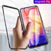 Bakeey Magnetic Flip Metal Frame Tempered Glass Full Cover Protective Case for Xiaomi Redmi 7 / Redmi Y3