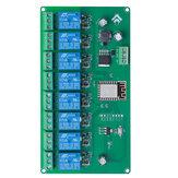 Fonte de alimentação 5V / 7-28V 8 canais ESP8266 WIFI Módulo de relé de 8 vias Placa de desenvolvimento ESP-12F Placa de desenvolvimento secundária