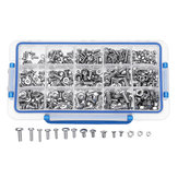 Suleve™ MXST2 480Pcs M4 M5 M6 Torx Screw Pan&Flat Head 304 Stainless Steel Bolt Assortment