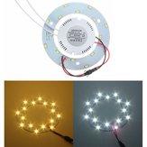 5730 SMD 8W LED círculo panel de techo anular bordo artefactos de iluminación