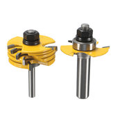 2szt 1/2 i 1/4 cala Shank Adjustable Rabbet Router Bit Set For Woodworking