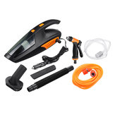 4 in 1 Handheld Wired Car Vacuum Cleaner Tire Inflatable Air Pump Lighting 5000Pa Suction Wet and Dry