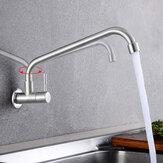 Robinet froid simple d'évier de cuisine d'acier inoxydable du robinet 304 de rotation de 360 °