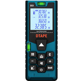 DTAPE D3 رقمي Laser 40m 60m 80m 100m Rangefinder مسافة Meter مفرد Continuous Area / Volume / Pythagorean Measurement