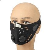 Унисекс Carbon Анти Пыль Маска На открытом воздухе езда Половина лица Защита рта фильтра