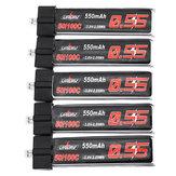 5szt URUAV 3,8V 550Mah 50 / 100C 1S HV 4,35V Lipo Bateria PH2.0 Wtyczka do Emax Tinyhawk Kingkong / LDARC TINY