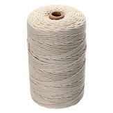 5Pcs 200Mx3mm Natural Beige Cotton Twisted Cord Rope Braided Wire DIY Craft Macrame String