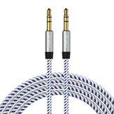 RAXFLY 3.5MM Man till Male Audio AUX-kabel 1m För iPhone X 8Plus Oneplus5 Bilhögtalare Hörlurar MP3