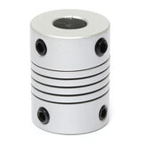 8mm x  10mm Aluminum Flexible Shaft Coupling OD19mm x L25mm CNC Stepper Motor Coupler Connector