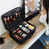 Makeup Case Leather Professional Cosmetic Suitcase Female Beauty Make Up Storage Box Travel Brushes Bag Organizer