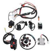 Listrik Wiring Harness Wire Loom CDI Motor Stator Set Lengkap Untuk ATV QUAD 150/200 / 250CC