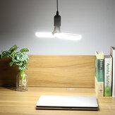 AC85-256V 30W E27 LED Лампа с 2 лопастями Складная лопасть вентилятора Регулируемый потолок Лампа для внутреннего домашнего использования