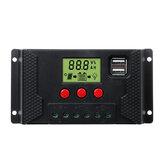 10-60A 12V / 24V PWM LCD solare Controller per caricabatterie solare Pannello Batteria Dual USB