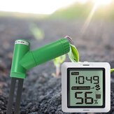 Wireless Soil Moisture Monitor Screen Displayed Plant Moisture Tester Sensor Receiver 433Mhz with Time Display