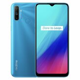 Realme C3 Global Version 6,5 inci 5000mAh Android 10 12MP AI Tiga Kamera Slot 3-Kartu 3GB 64GB Helio G70 4G Smartphone