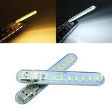 Mini usb 3w smd5730 blanc / blanc chaud lampe de puissance mobile camping 8 LED la lumière de nuit dc5v