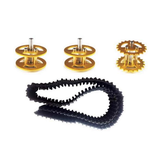 2Pcs Golden Driving Wheels + Bearing Wheels + Plastic Track Set Accessory For Robot Car Chassis