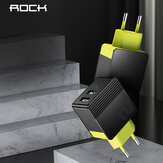 Rock 2.4A Dual USB Port Travel Wall Charger Adapter EU-stik til iPhone 11 SE 2020 Huawei til iPad Pro 2020