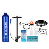 DIDEEP 1L Silinder Oksigen Mini Portabel Tangki Oksigen Udara Nafas Menyelam Silinder Oksigen Bawah Air