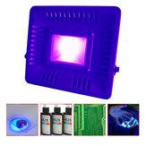 AC110V / 220V 50W 395nm UV Cura LED Projetor Lâmpada à prova d'água para Detector de Dinheiro para Impressão de Plástico