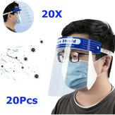 20PcsTransparenteAjustávelProtetorFacial Completo Plástico Anti-fog Anti-cuspe de Proteção Máscara para Médicos Enfermeira Família