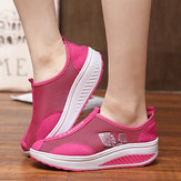 Mesh breathable Rocker Sole Sko Slip On Sneakers