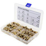 140pcs Metric Brass Zerk Fitting M6/M8/M10 Grease Nipple Fitting Kit Pipes Fittings