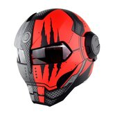SOMAN Iron Man Helmet Flip Up Casco moto Robot stile Moto Casco Monster Casque Approvazione DOT